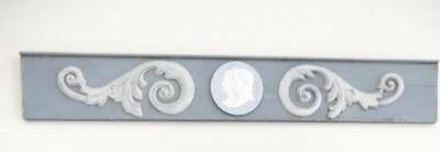 Architectural Over Door Header Pediment French Blue JASPERWARE Medallion