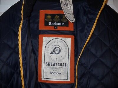 BARBOUR GREAT COAT MEN'S QUILTED JACKET - LARGE (By J. Barbour and sons)