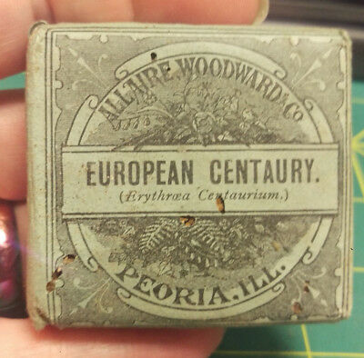 Vintage AllAire Woodward & Co European Centaury quack pharmacy meds, early 1900s