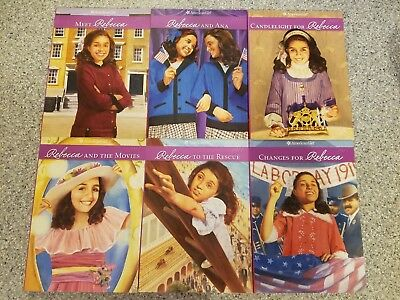 American Girl Doll Books Rebecca Set of 6 books VGC