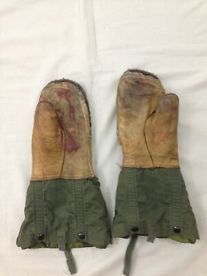 Vtg Greenbrier Industries WW2 Mens M Army Green Extreme Cold Set Mittens
