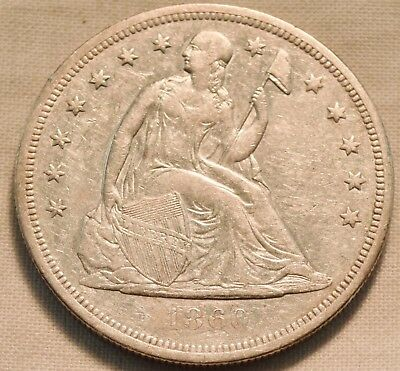 1860 O Seated Liberty Silver Dollar, Middle to Higher Grade Details One $1 Coin