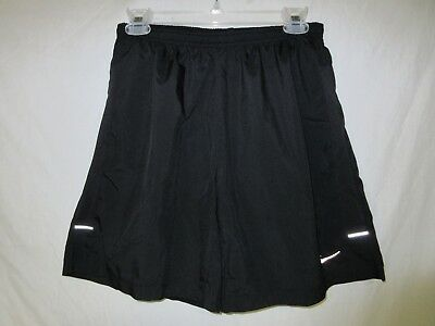 Nike Dri Fit Running Shorts Men's Sz M Black Elasticized Drawstring