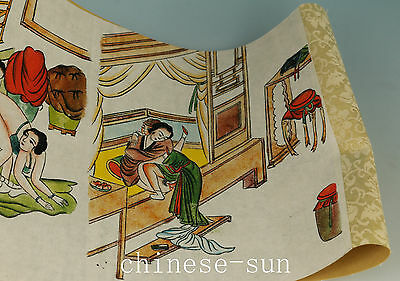 12different picture China Paper Printing Plating New Married Life Painting Roll
