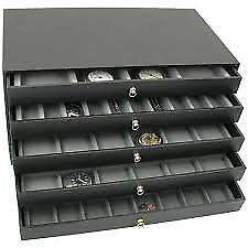 FindingKing 5 Drawer Jewelry Storage Organizer Case