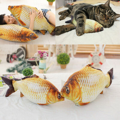 Simulation Carp Plush Toy Soft Animal Fish  cat Toy Plush Pillow Christmas Gifts