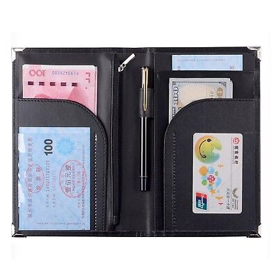 "Leather Servers Wallet Server Waiter Book Organizer Restaurant (Black/8""  5.2..."
