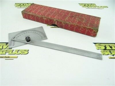 Starrett No. C183 Satin Chrome Protractor