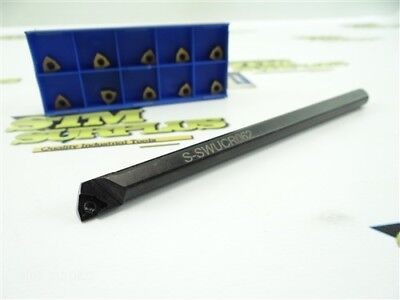 """Nice Indexable Boring Bar 3/8"""" Shank S-Swucr062 Made In Usa + 10 New Inserts"""