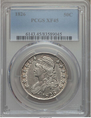1826 50C Capped Bust Half Dollar PCGS XF45