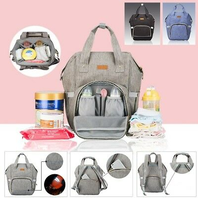 Multifunctional Mummy Backpack Changing Maternity Baby Nappy Diaper Bag Large