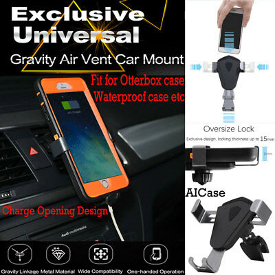 Universal 360° Gravity Air Vent Car Mount Holder Cradle F iPhone 8 Plus Samsung