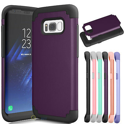 For Samsung Galaxy S8 / S8 Plus Ultra Slim Shockproof Rubber Rugged Case Cover