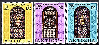 1973 ANTIGUA EASTER STAINED GLASS WINDOWS mint unhinged
