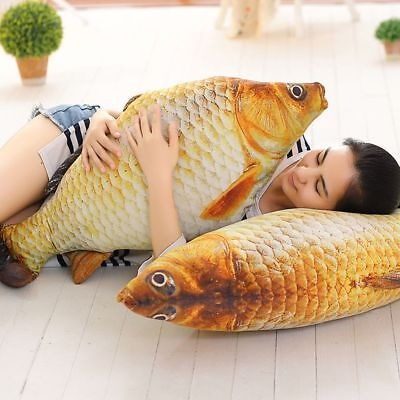 Simulation Carp Cat's Toy Plush Staffed Soft Fish Sofa Cushion Pillow Plush Gift