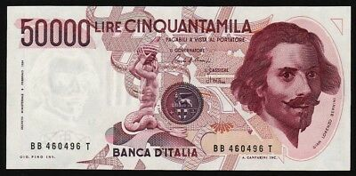 50000 Lire From Italy 1984 M8 Unc