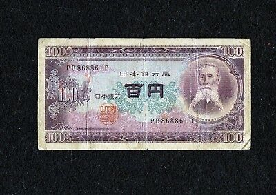 Japan, 100 Yen, Nippon Ginko - 1950-58 Issue - Currency / Note