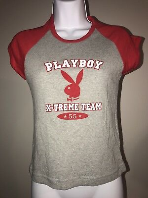 NWT Women's Playboy  X-Treme Team T Shirt Top M/L