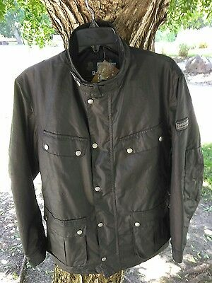 New Barbour 'Duke' Regular Fit Waterproof Waxed Medium M Cotton Jacket NWT