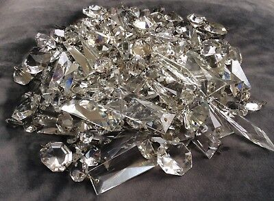 Over 200 Mixed Vintage Crystal Chandelier Drops