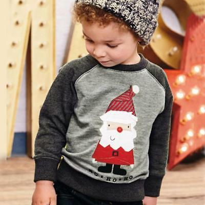 Kids Boy Long Sleeve Jumper Christmas Sweatshirt Toddler t-Shirt Tops Clothes