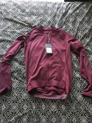 Rapha core long sleeve jersey burgundy size M mens cycling jersey
