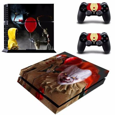 Stephen King's It Joker Vinyl Skin Decal Sticker for PS4 PlayStation Controllers