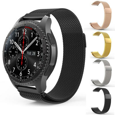 Magnetic Milanese Watch Band Strap For Samsung Gear S3 Frontier / Classic 22mm