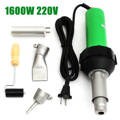 Hot Air Torch Gun Plastic Welding Torch Welding Kit Pistol +Nozzle +Roller 1600W