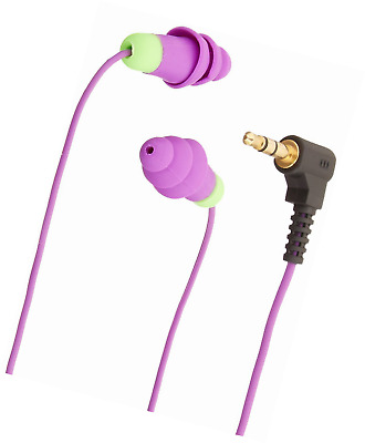Purple Plugfones Contractor Silicone Ear Plug Earbuds Protection Headphones