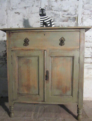 Solid Oak Shabby Chic Cupboard, Painted In Annie Sloan
