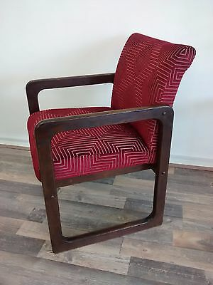 Retro/vintage 1960's Canadian Lounge Chair restored in a Harlequin fabric.