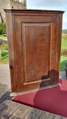 Antique Early 19th century Oak Corner Cupboard Cabinet