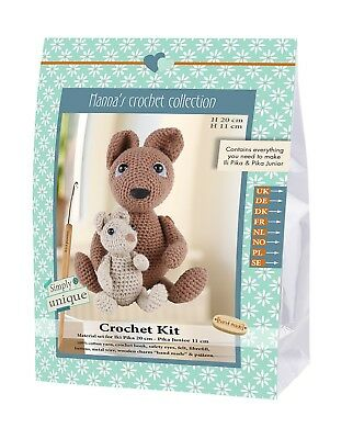 NEW | Go Handmade Crochet Kit | Helmut & Friends | Li'l Pika | FREE P&P
