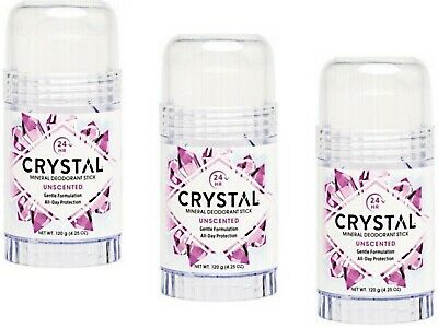 3 x 120g CRYSTAL ESSENCE Crystal Deodorant Body Stick