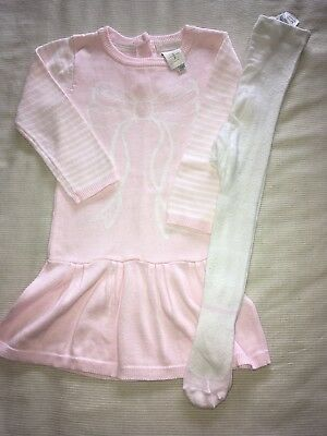 Baby Girls Junior J Jasper Conran Knitted Dress And Tights Outfit 12-18 Months