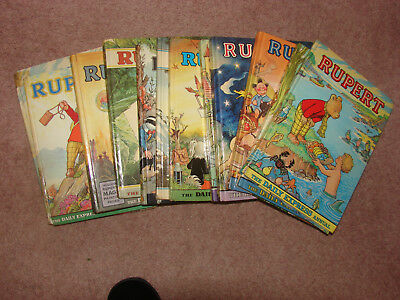 Rupert Books - Daily Express Annuals - Twelve Different Years 1959-79