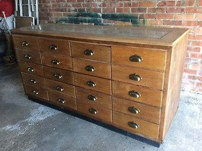 Vintage 20 Drawer Haberdashery Counter / Cabinet, shop display, display cabinet