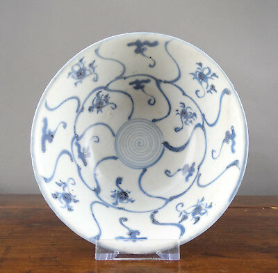 Chinese Porcelain Bowl Blue and White Tek Sing Shipwreck Antique 19th Century