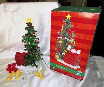 Dept 56 Peanuts Advent Tree Snoopy & Woodstock 26 Pieces Christmas Countdown MIB