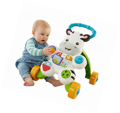 Fisher-Price Learn with Me Zebra Walker Baby Toddler Toy Easy-Grasp Handle