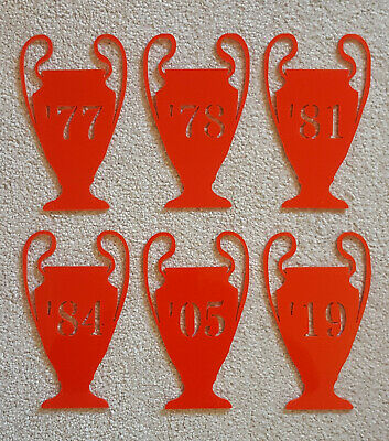 Acrylic European Champions League Trophy plaques - the Liverpool winning years
