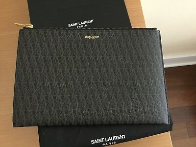 Saint Laurent YSL Monogram Canvas Sleeve