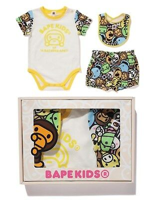 2017 A/W A BATHING APE BAPE KIDS MILO ALL FRIENDS BABY GIFT SET From Japan New