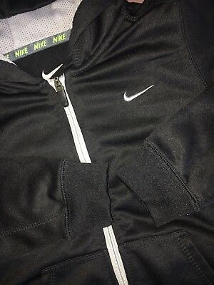 NIKE Therma Fit Black Zip Hoodie Boys Youth Size 7 ⚽️ EUC