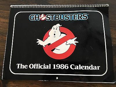 Woah! Vintage 1986 Ghostbusters Calendar - No Marks! Free Shipping! Look!!