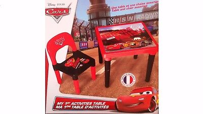 table + chaise assorties THE CARS