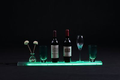 Merging LED Liquor Shelf Bottle Display Bar Shelves 2.6ft with Wall Mount Bra...