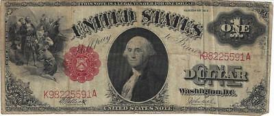 1917 $1 One Dollar United States Note Well Circulated