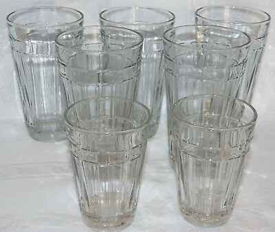 "Longaberger Glass ""Woven Traditions"" 5-Water & 2-Juice Glasses/Tumblers"